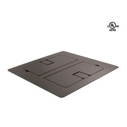 Mystery Electronics - FMCA3200 - Mystery Flat Trim Satin Black Floor Box with Cable Door