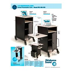 Oklahoma Sound - PRC400 - Oklahoma Sound Jumbo Presentation Cart