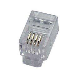 Eclipse Enterprises - 702-001 - 4P4C RJ-10 Modular Plug for Flat Stranded Wire 50 pack