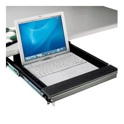 Penn Elcom - EX6201 - Locking Laptop Security Drawer For Under Desk Mount 75mm H x 338mm L x 450mm W