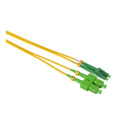 Camplex - SMD9-ASC-ALC-001 - APC SC to APC LC Singlemode Duplex Fiber Optic Patch Cable - Yellow - 1 Meter