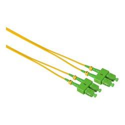 Camplex - SMD9-ASC-ASC-001 - APC SC to APC SC Singlemode Duplex Fiber Optic Patch Cable - Yellow - 1 Meter