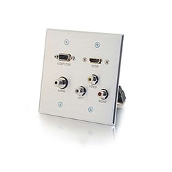 Middle Atlantic Products - 39,704.00 - Middle Atlantic 39704 HDMI VGA 3.5mm Audio Composite Video and RCA Stereo Audio Pass Through Double Gang Wall Plate