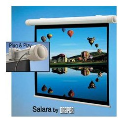 Draper - 132,009.00 - Draper 132009 Salara NTSC Matte White 69x92 Motorized Wall Screen