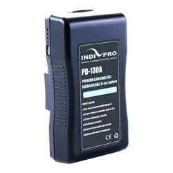 IndiPro Tools - PD130A - Compact 130Wh Gold-Mount Li-Ion Battery