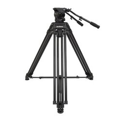 VariZoom - VZ-TKC100A - 100mm Combo VZ-FH100 Head and VZ-TC100A Aluminum Tripod