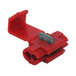Connectronics - 65-1280C - 22-18AWG Crimp Terminal Red Wire Tap Splice 100 pk