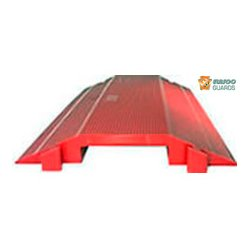 Elasco Guards - ED-8200R - Elasco Products ED8200-R Single channel, 2 x 7 3/4, Red