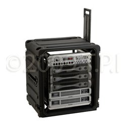 "SKB Cases - 3SKB-R12U20W - SKB 20"" Deep 12U Roto Shockmount Rolling Rack - Internal Dimensions: 19"" Width x 21"" Height - External Dimensions: 31"" Width x 20"" Depth x 31"" Height - 34.56 gal - Twist Latch, Latch Lock Closure - Black"