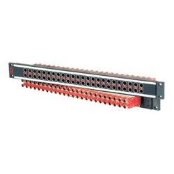 AVP Mfg & Supply - AV-C224E1-AS7511 - AVP Mosaic CIS 24 Dual Jack Non-Normaled Terminating 1 RU Patchbay