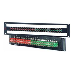 AVP Mfg & Supply - AV-C224E2-AS7511 - AVP Mosaic CIS 24 Dual Jack Non-Normaled Terminating 2 RU Patchbay