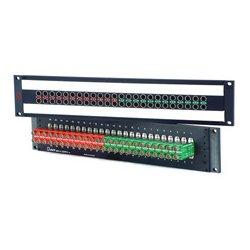 AVP Mfg & Supply - AV-C224E2-ASN7511 - AVP 2x24 Super HD Plus 3GHz Normaled Terminating Jackfield 2RU