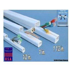Quest Technology - FWH-11411 - Quest 1/2 x 48 Inch Low Voltage Cable Raceway (EACH) - White