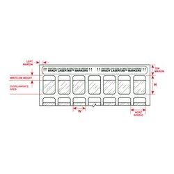 Brady - 24,566.00 - Brady 1x1 Inch Printable Polyester Labels (1000 Pack)