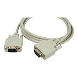 TecNec - 9M-9M-15 - DB-9 Serial Male - Male Molded Cable 15ft Beige