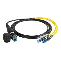 Camplex - HF-OC4S-LC-0015 - opticalCON QUAD to Quad LC Singlemode Fiber Optic Breakout 15-Foot