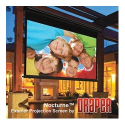 Draper - 138,018.00 - Draper 138018 Nocturne 16:9 HDTV Electric Projection Screen - 133 Inch - HC Grey