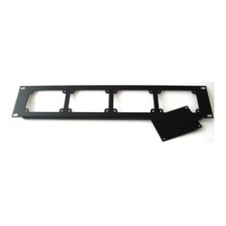 Energy Transformation Systems - PA207 - ETS 2u 19in Rack Mount Panel w 3 Blank Plates - Holds up to 4 InstaSnakes