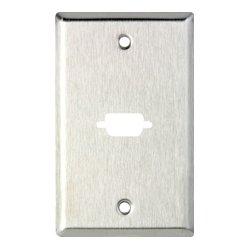 TecNec - WP1/1D - 1 Gang Wall Plate w/1 D-Sub Cutout for HDMI-FF-CM Connectors