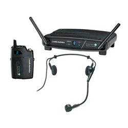 Audio Technica - ATW-1101/H - Audio-Technica ATW-1101/H Headworn Microphone System - 98.43 ft Operating Range