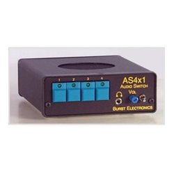 Burst Electronics - AS4X1R - Burst 4x1 Stereo Audio Switcher w/RS232