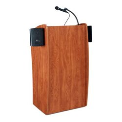 Oklahoma Sound - 611S - Oklahoma Sound 611-S Vision Floor Lectern with Sound - Cherry