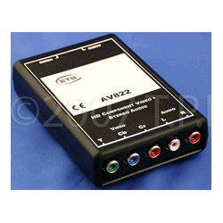 Energy Transformation Systems - AV822 - ETS HD Component Video Plus Stereo Audio 5 RCA to RJ45 to 2 JR45