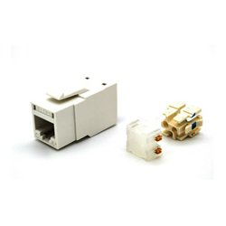 Belden / CDT - RV6MJKUEWB24 - RevConnect CAT6plus Jack Electric White UTP T568 A/B Bulk Pack