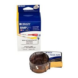 Brady - 110,927.00 - Brady Self-Laminating Black on White/Translucent Tape 3/4x14 ft