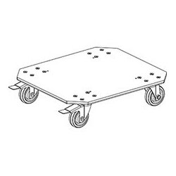 Grundorf - RS-D-LC2B - Add-on Grundorf 4in Large Caster Two Brakes Dolly Plate For Grundorf Carpet Series RS-18D Rack Shell