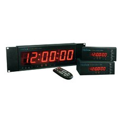 Radio Systems - CT-DESK - Radio Systems CT-2002 Desktop 0.56-Inch LED Studio Clock & Timer with IR Remote