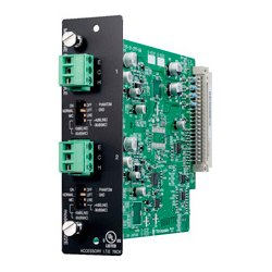 TOA Electronics - D-922E - TOA Input Module-Two Mic/Line Inputs with Phoenix-Type Connectors