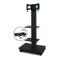 Marvel Office Furniture - MVPFS3255DT-2E - Monitor Stand with Two Shelves & Earpiece Microphone