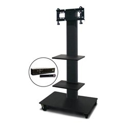 Marvel Office Furniture - MVPFS3255DT-2H - Monitor Stand with Two Shelves & Hand Microphone