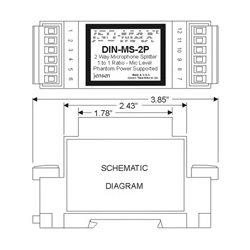 Jensen Transformers - DIN-MS-2P - Jensen Microphone Splitter Module