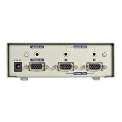 StarTech - 122PROA - StarTech 2 Port High-Res VGA Video and Audio Splitter/DA
