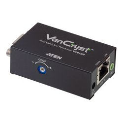 Aten Technologies - VE022R - Aten VE022R Mini Cat 5 A/V Receiver - 1 Output Device - 492.13 ft Range - 1 x Network (RJ-45) - 1 x VGA Out - WUXGA - 1920 x 1200 - Category 5