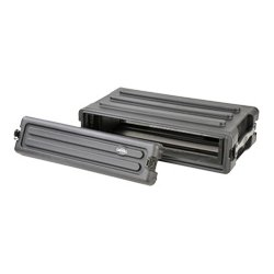 SKB Cases - 1SKB-R2S - SKB Roto-Molded 2U Shallow Rack - Internal Dimensions: 19 Width x 3.50 Height - External Dimensions: 22.4 Width x 16.2 Depth x 5.5 Height - Stackable - Rubber, LLDPE