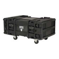 "SKB Cases - 3SKB-R904U30 - SKB 30"" Deep 4U Roto Shock Rack - Internal Dimensions: 19"" Width x 30"" Depth x 7"" Height - External Dimensions: 26.8"" Width x 42.1"" Depth x 16.4"" Height - 150 lb - 17.28 gal - Latching Closure - Stackable - LLDPE, Linear Medium"