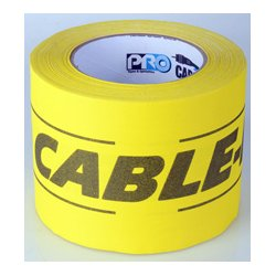 Pro Tapes & Specialties - 001CP430MYB - Pro Tapes 4-Inch x 30 Yard Yellow/Black Cable-Path Tape