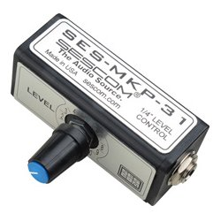 Sescom - SES-MKP-31 - Single Channel Inline Balanced Audio Level Control with 1/4 Inch Connectors