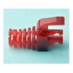 Platinum Tools - 105,032.00 - Platinum Tools 105032 EZ-DataLock Strain Relief for EZ-RJ45 Cat5e Only Red 100pc/Bag