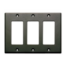 Radio Design Labs (RDL) - CP3B - RDL Triple Cover Plate - Black