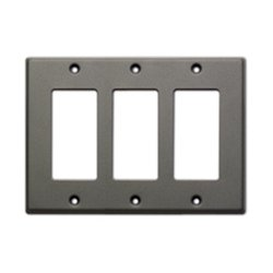 Radio Design Labs (RDL) - CP-3G - CP-3G Single Cover Wall Plate (Gray)