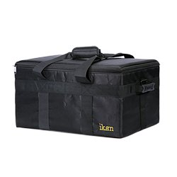 ikan - IBG-500-3L - ikan IBG-500-3L Carrying Case for Light Kit - Black - Scratch Resistant Interior - Plastic Handle, Rubber Feet, Nylon - Shoulder Strap, Handle - 16 Height x 21 Width x 11.8 Depth