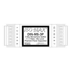 Jensen Transformers - DIN-MS-3P - Jensen 3 Way Mic Splitter w/Phantom Support Circuitry