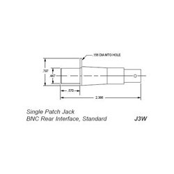 Trompeter Electronics - J3W - Trompeter Coaxial 0.090 WECO Patch Jack to BNC Jack 2-Lug Female 75 Ohm Rear interface
