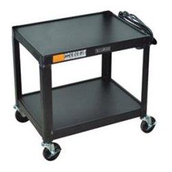 Luxor / H Wilson - AV42 - Luxor 42 Fixed height Open Shelf A/V Cart - 42 Height x 24 Width x 18 Depth