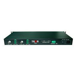 Thor Fiber - F-2V4A - Thor 2 Channel CVBS Broadcast Grade 10-Bit Digital Fiber Optic Tx & Rx