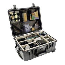 Pelican - 015500-0040-110 - 1554 Hard Case Black W/ Dividerscase 18.43x14x7.62
